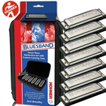 Blues Band Seven Piece Harmonica Set w/ Custom Carrying Case
