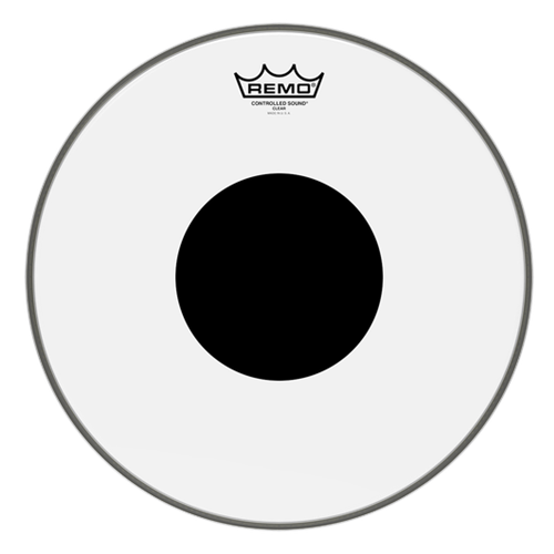 Remo® Controlled Sound® Clear Black Dot™ Drumheads- Choose Size